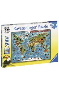 Puzzle harta animalelor 300 piese Ravensburger