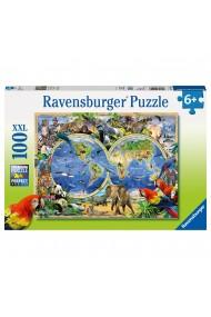 Puzzle animalele lumii 100 piese Ravensburger