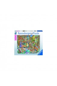 Puzzle copii si adulti Noapte in Librarie 1000 piese Ravensburger