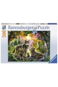 Puzzle familia lupilor 500 piese Ravensburger
