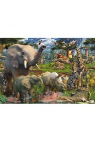 Puzzle adulti si copii animale in salbaticie 18000 piese Ravensburger