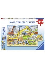 Puzzle utilaje constructii 2X24 piese Ravensburger