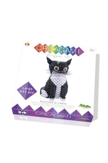 Creagami pisica Origami 3D CreativaMente