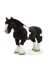 Figurina Cal Clydesdale alb si negru Mojo