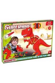 Jucarie cu magnet T-Rez 40 piese 3D Supermag