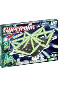 Set constructie magnetic 98 piese Classic Glow Supermag