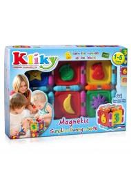 Set constructie magnetic fructe 24 piese Kliky Supermag