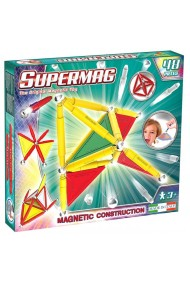 Set constructie magnetic Primary 48 piese Supermag