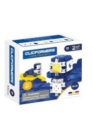 Set constructie Clicformers Craft albastru 25 de piese Clics Toys