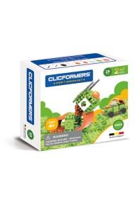 Set constructie Clicformers Craft verde 25 de piese Clics Toys