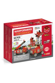 Set constructie magnetic Magformers interventie 50 piese Clics Toys