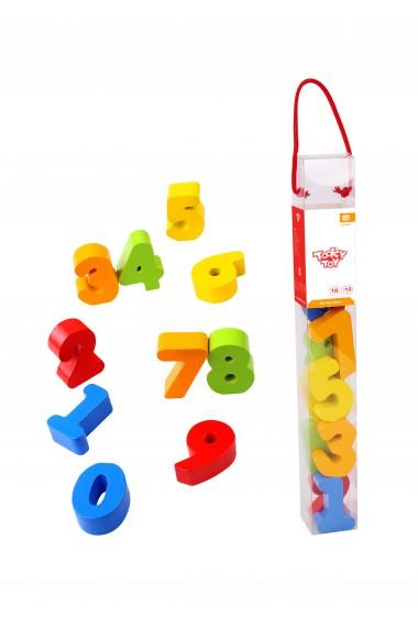 Cifre colarate din lemn Tooky Toy