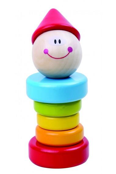 Clovnul zornaitor din lemn Tooky Toy