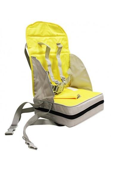Inaltator scaun de masa portabil si pliabil galben-gri Poupy