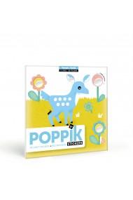 Joc creativ cu stickere Animale in padure Poppik