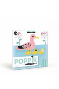 Joc creativ cu stickere Animale pe apa Poppik