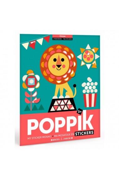 Joc creativ mozaic cu stickere Circul Poppik