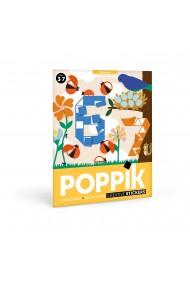 Joc creativ mozaic cu stickere Numere Poppik
