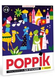 Joc creativ mozaic cu stickere Craciun Poppik