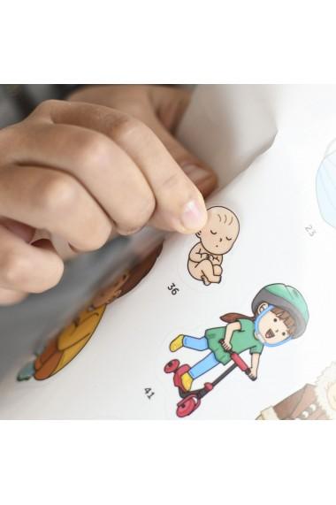 Joc educativ cu stickere repozitionabile Corpul Uman Poppik