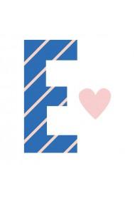 Sticker de perete litera E majuscula Poppik