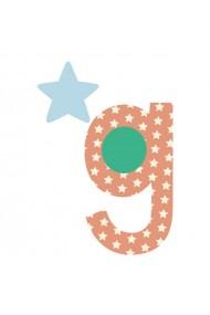 Sticker de perete litera G mica Poppik