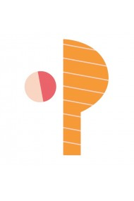 Sticker de perete litera P majuscula Poppik