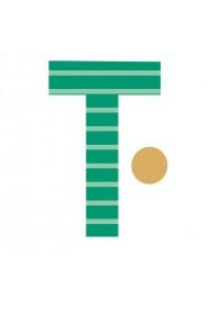 Sticker de perete litera T majuscula Poppik