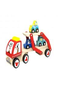 Camion transportor si masini de lemn cu personaje Disney