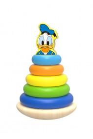 Piramida de stivuit inele colorate din lemn si Donald Disney