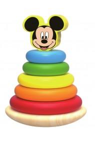 Piramida de stivuit inele colorate din lemn si Mickey Disney