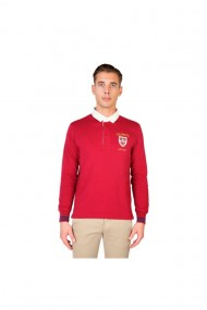 Tricou polo model QUEENS-POLO-ML-RED Oxford University
