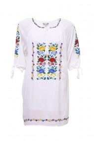 Rochie dama motive traditionale alb dae3544