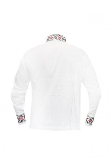 Bluza barbati tip ie brodata traditional Alb/Rosu DAE5793
