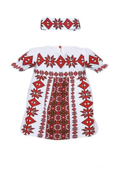 Rochie fete imprimata motive traditionale DAE3119