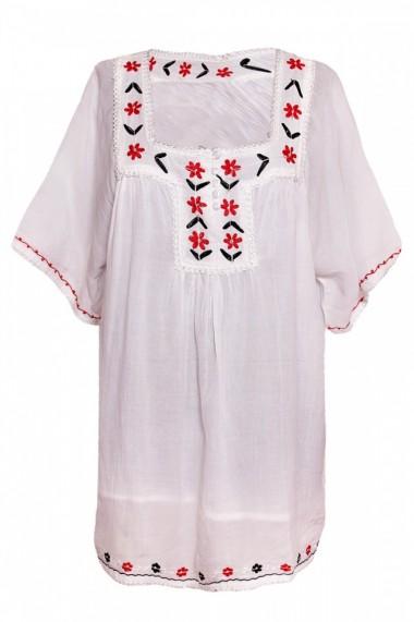 Bluza dama tip ie Alb DAL2585 One Size
