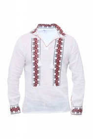 Bluza barbati tip ie alb traditionala DAE3979