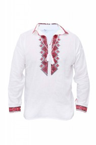 Bluza barbati tip ie alb traditionala DAE3981