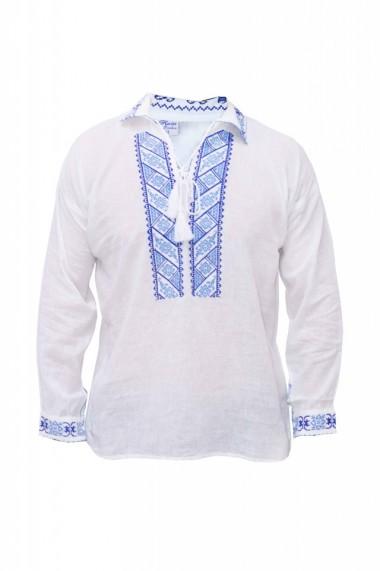 Bluza barbati tip ie alb traditionala DAE3983