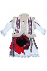 Costum traditional 5 piese de botez fete dae4149