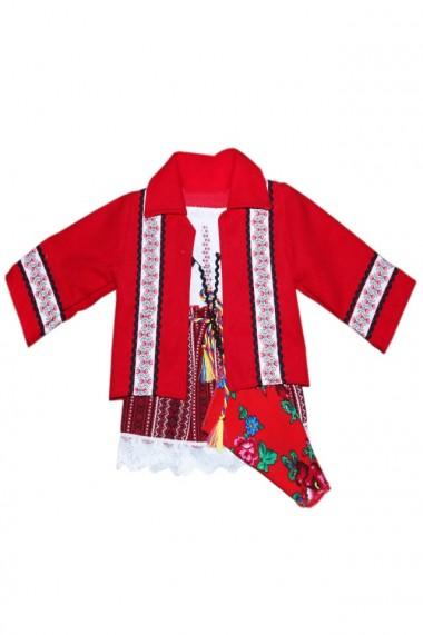 Costum traditional 5 piese de botez fete dae4150