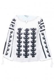 Bluza dama tip ie traditionala Alb-Negru dae5102