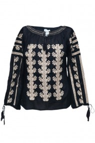Bluza dama tip ie brodata traditionala negru dae5105