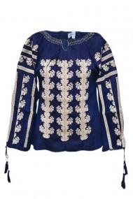 Bluza dama tip ie brodata traditionala Bleumarin dae5107