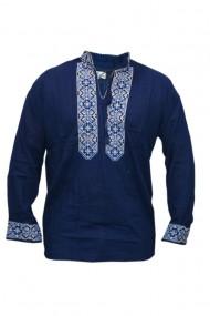 Bluza barbati tip ie brodata traditional bleumarin DAE5124