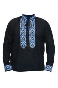 Bluza barbati tip ie brodata traditional negru DAE5128