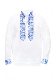 Bluza barbati tip ie brodata traditional Alb/Albastru DAE5130