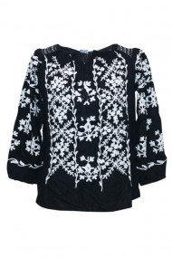 Bluza dama tip ie brodata traditionala Negru dae4980