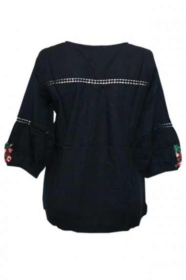 Bluza dama tip ie brodata traditionala Negru dae4982