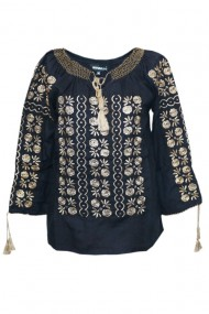 Bluza dama tip ie brodata traditionala Negru dae4983
